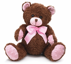 Cheyenne Brown and Pink Plush Teddy Bear