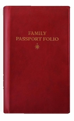 Family Passport Folio by Paperblanks - Red Faux Leather