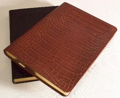 Fine Italian Crocodile Embossed Leather Flexible Cover Journal