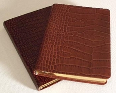 Fine Italian Crocodile Embossed Leather Travel Journal
