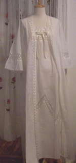 Ginestra Cotton Nightgown or Robe - Made In Italy