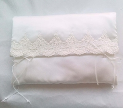Juliana White Satin and Lace Lingerie Case