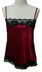Rosetta Classic Silk Camisole with French Lace