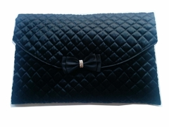 Satin Quilted Lingerie Case/Bag - Black