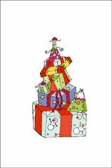 Stack of Gifts - Gift Enclosure Cards