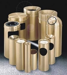 Glaro Atlantis Satin Brass Waste Receptacles