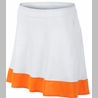 Nike | Color Band Skort in White with Orange Horizon
