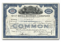 ACF-Brill Motors Company, Issued to EF Hutton