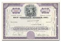 ACF-Wrigley Stores, Inc., Issued to Dean Witter & Company