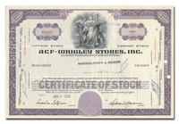 ACF-Wrigley Stores, Inc., Issued to Hornblower & Weeks