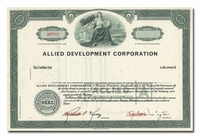 Allied Development Corporation (Specimen)