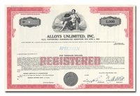 Alloys Unlimited, Inc. (Specimen)