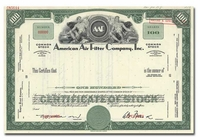American Air Filter Company, Inc. (Specimen)