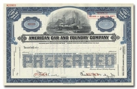 American Car and Foundry Company (Specimen)