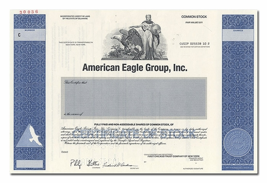 American Eagle Group, Inc. (Specimen)