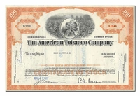 American Tobacco Company, Issued to Dean Witter & Company