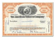 American Tobacco Company, Issued to Hayden Stone Incorporated