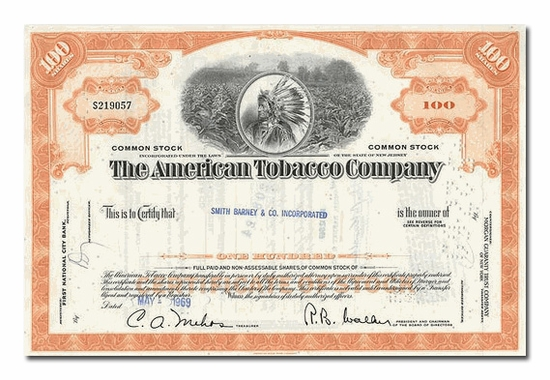 American Tobacco Company, Issued to Smith Barney & Company
