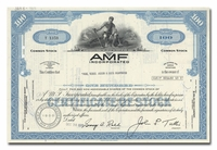 AMF Incorporated, Issued to Paine Webber, Jackson & Curtis