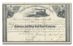 Baltimore and Ohio Rail-Road Company, Signed by John Work Garrett