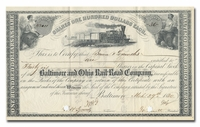 Baltimore and Ohio Rail-Road Company (Signed by John Work Garrett)