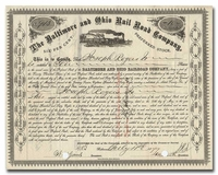 Baltimore and Ohio Rail Road Company (Signed by John Work Garrett)
