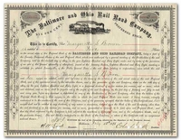 Baltimore and Ohio Rail Road Company (Signed by Orland Smith)