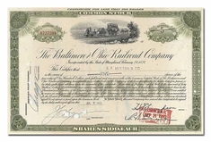 Baltimore and Ohio Railroad Company, Issued to EF Hutton