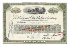 Baltimore and Ohio Railroad Company, Issued to Hayden Stone & Company