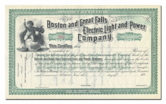 Boston and Great Falls Electric Light and Power Company