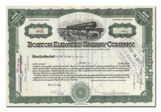 Boston Elevated Railway Company, Issued to Hayden Stone & Company