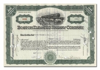Boston Elevated Railway Company, Issued to Paine Webber & Company
