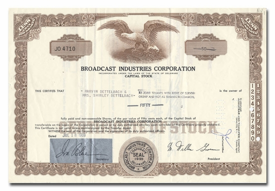Broadcast Industries Corporation