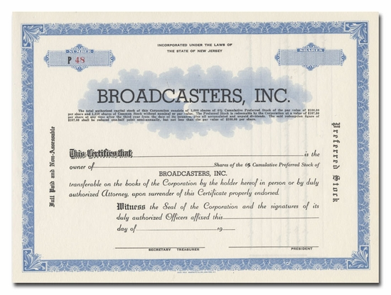Broadcasters, Inc.