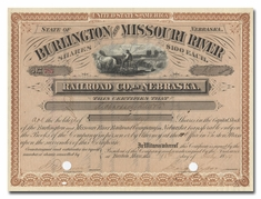 Burlington and Missouri River Railroad Company in Nebraska