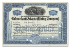 Calumet and Arizona Mining Company, Issued to Paine, Webber & Co.
