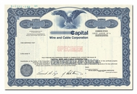 Capital Wire and Cable Corporation (Specimen)