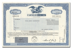 Carnegie Bancorp, Issued to Paine Webber
