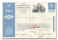 CCI Marquardt Corporation, Issued to EF Hutton