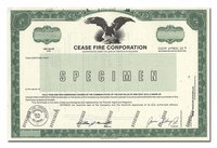 Cease Fire Corporation (Specimen)