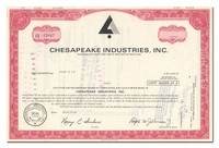 Chesapeake Industries, Inc. (LOT OF 8 PIECES)