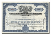 Chicago and North Western Railway Company, Issued to Tucker Anthony & Company