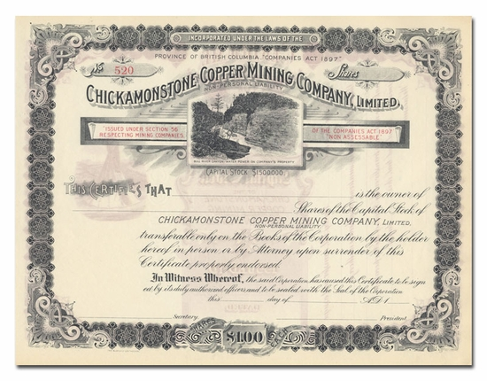 Chickamonstone Copper Mining Company, Limited