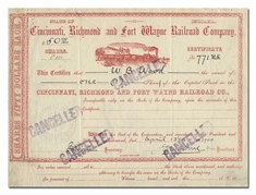Cincinnati, Richmond and Fort Wayne Railroad Company
