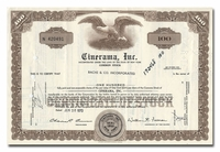 Cinerama, Inc., Issued to Bache & Co.