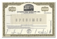 Citizens First Bancorp, Inc. (Specimen)