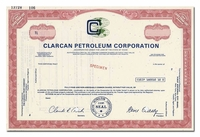 Clarcan Petroleum Corporation (Specimen)