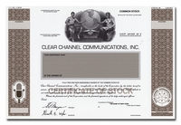 Clear Channel Communications, Inc. (Working Proof)