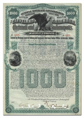 Cleveland, Columbus, Cincinnati & Indianapolis Railway Company, Signed by John Henry Devereaux