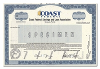 Coast Federal Savings and Loan Association (Specimen)